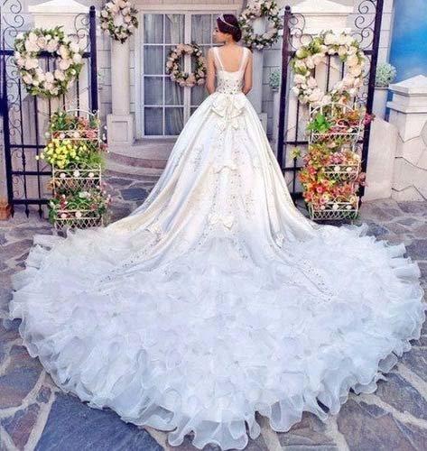 Красивые пышные свадебные платья со шлейфом