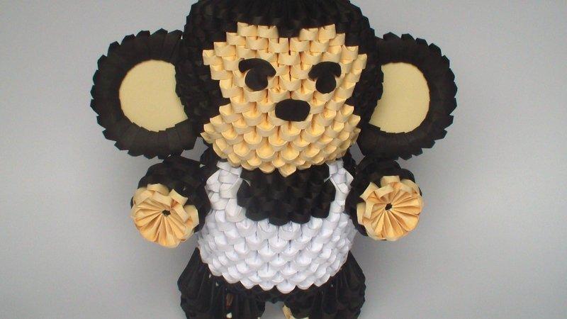 Модульными оригами обезьяна