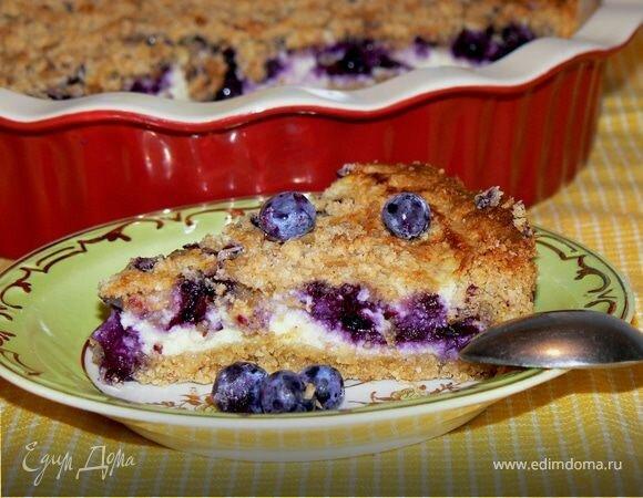 Пирог овсяный с ягодами рецепт с