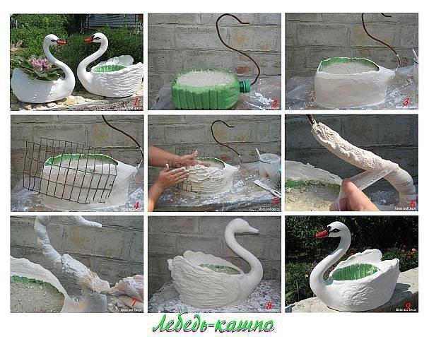 Как своими руками сделать фигурки для сада своими руками пошагово 68