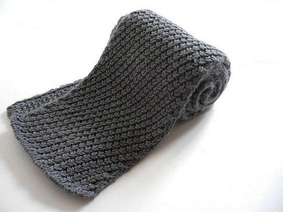 Вязание крючкоммужские шарфы 73