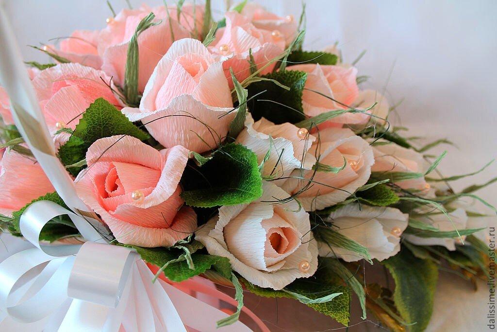 Сделать букет из роз своими руками фото