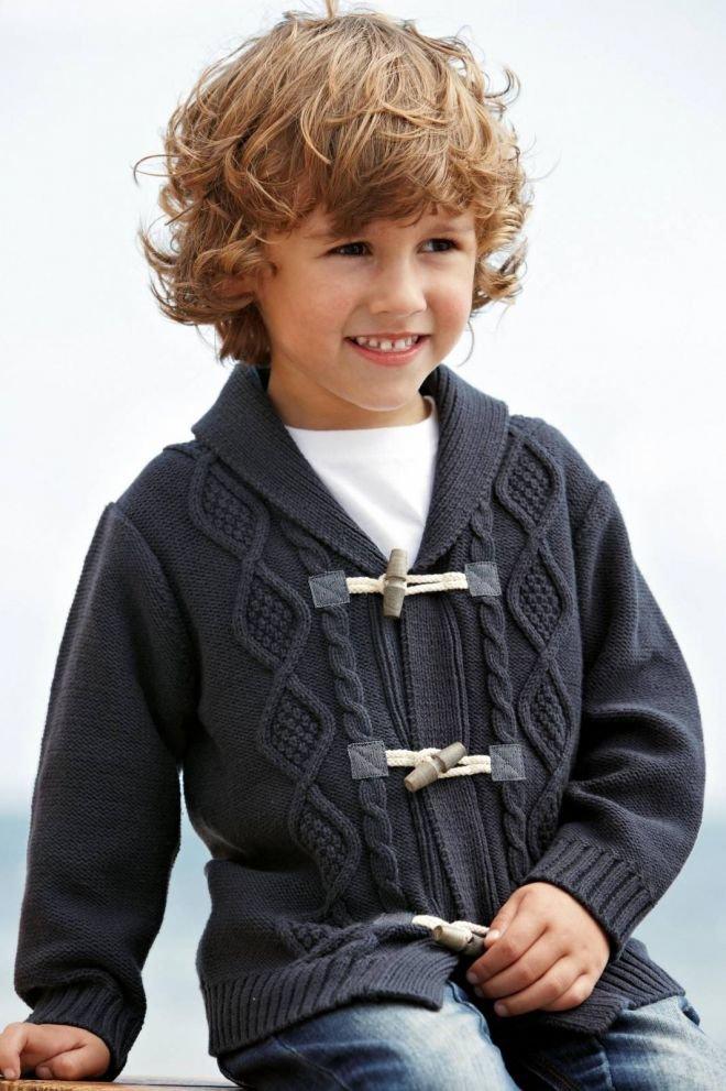 Вязание кардиган для мальчика 4