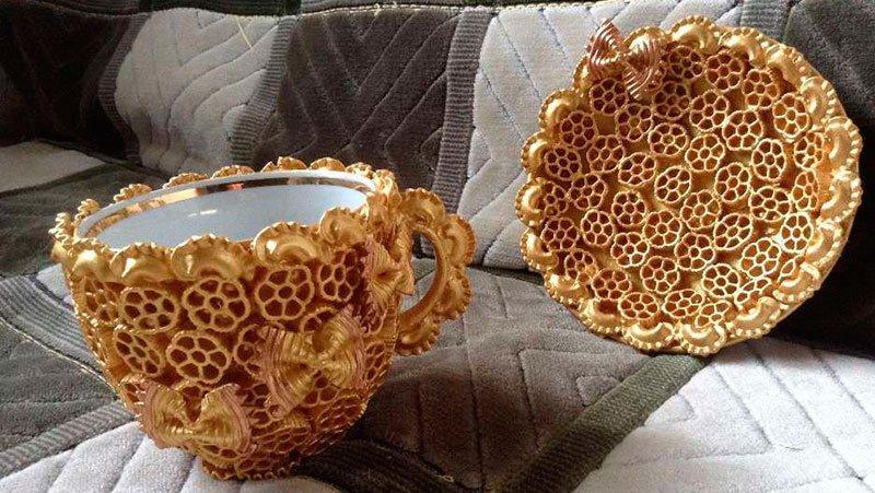 Чайник из макарон своими руками фото