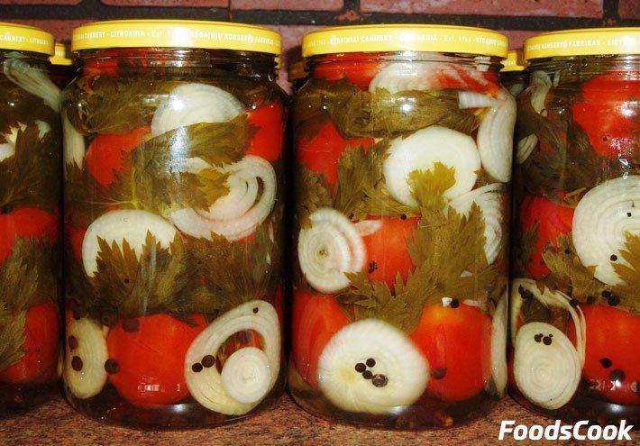 Маринованные помидоры с луком рецепты