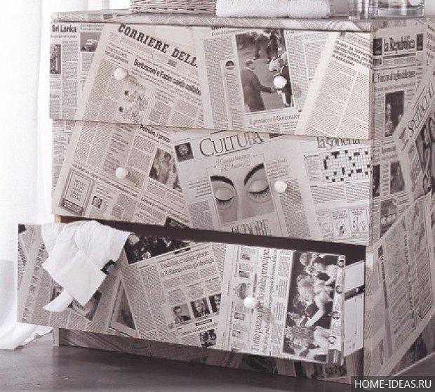 Как сделать обои из газет