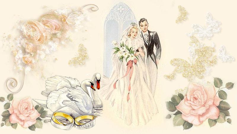 картинки декупажа свадебных бутылок