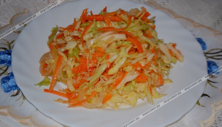 Салат с капустой и моркови рецепты с простые и вкусные
