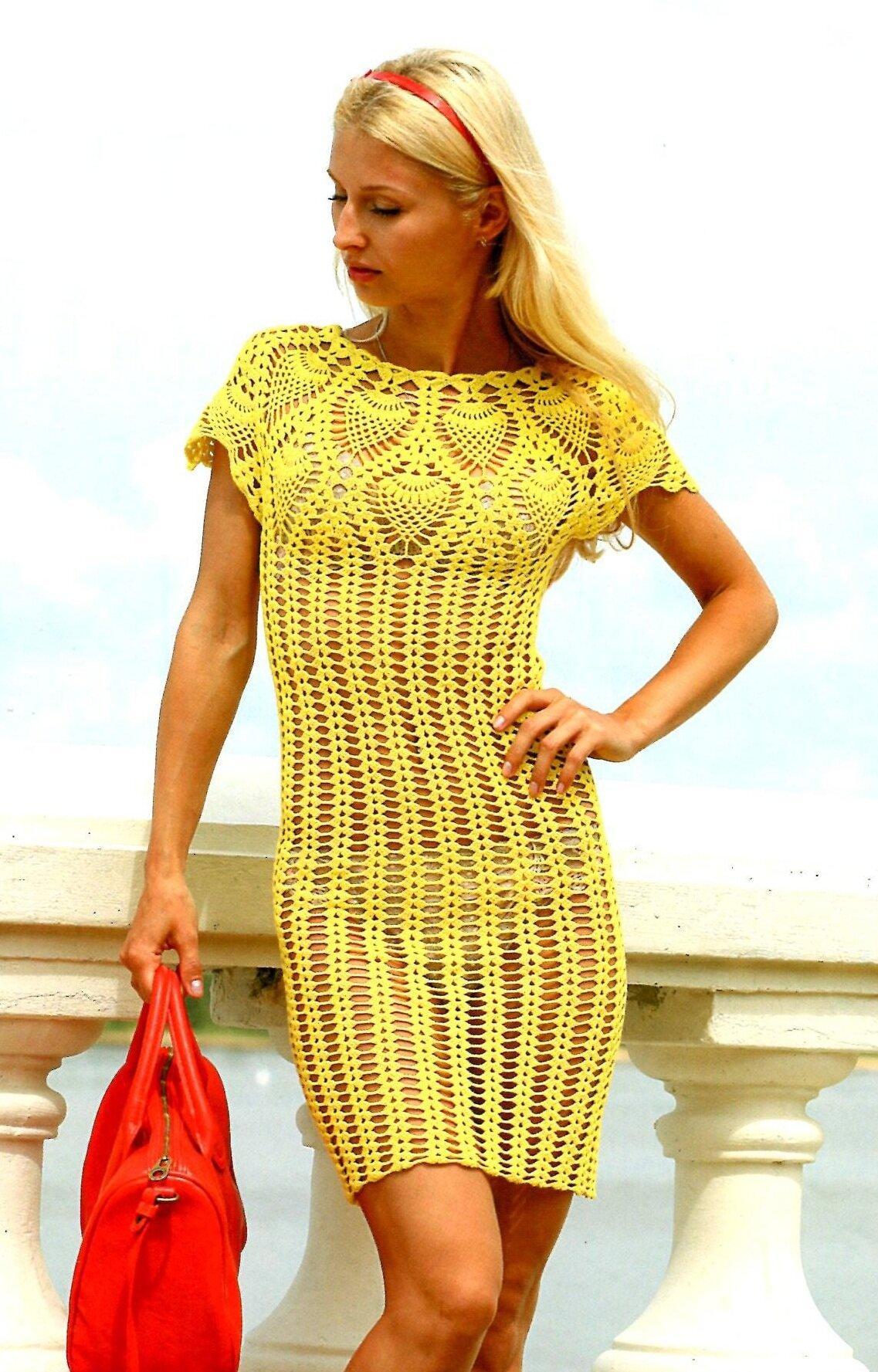 Вязание летнего платья фото