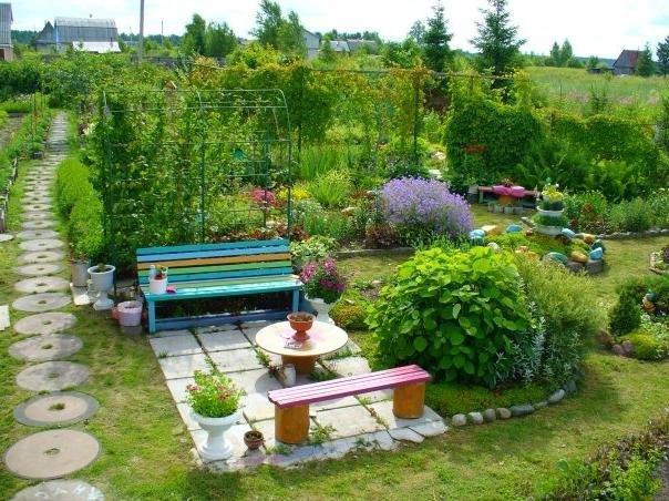 Дизайн для садового участка на даче своими руками 45