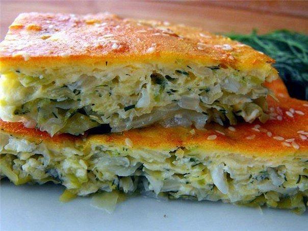 Пирог из капусты с яйцом в духовке рецепт с