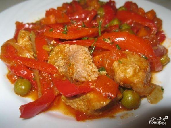 Мясо с болгарским перцем рецепт пошагово