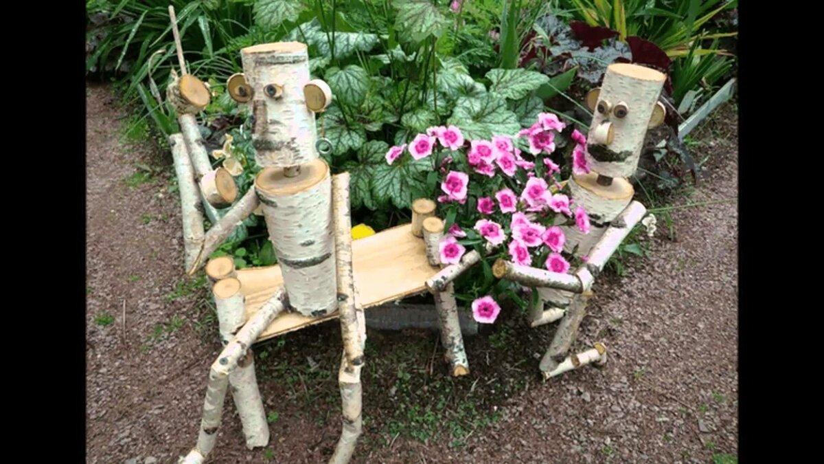 Как своими руками сделать декор в саду 791
