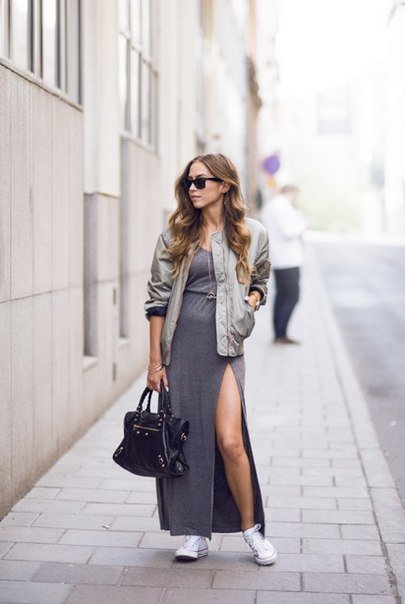 Бомбер женский с платьем