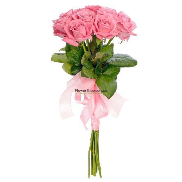 Букеты цветов розы розовые розы