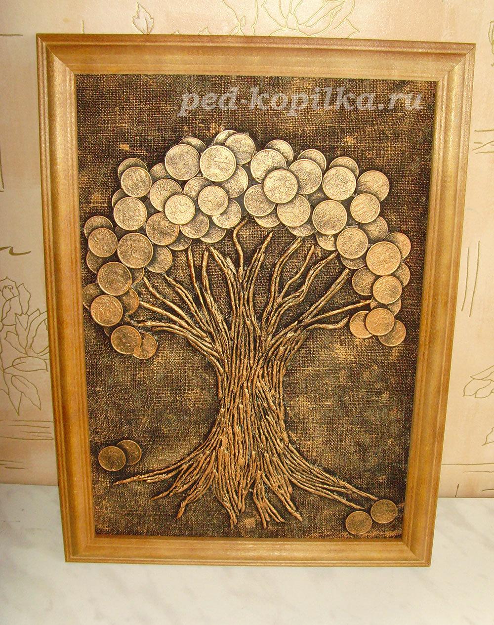 Денежное дерево на открытке