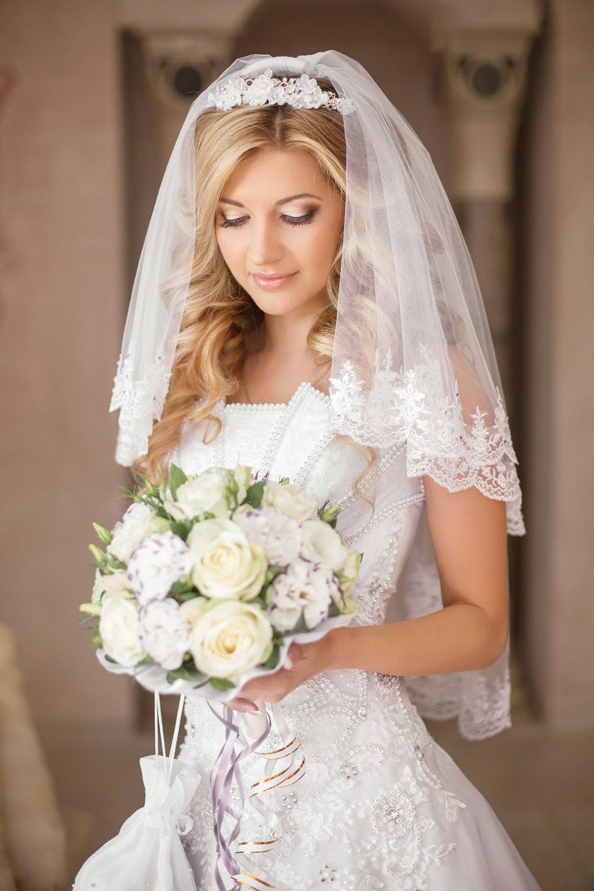 Красивая фата для свадьбы фото