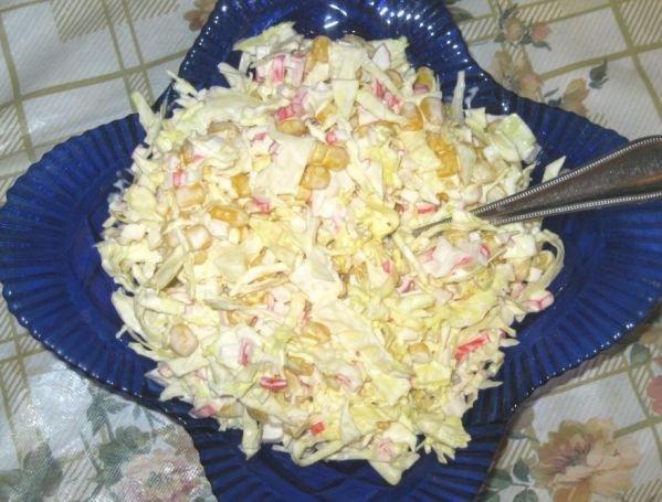 Быстрый салат из капусты рецепт