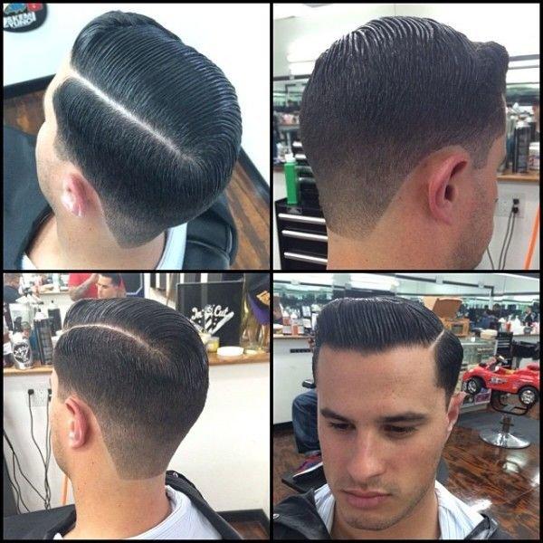 Мужские причёски с проборами