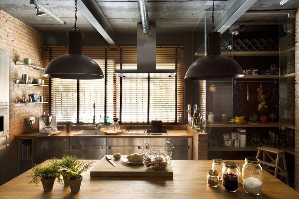 Кухня с стиле лофт своими руками 56