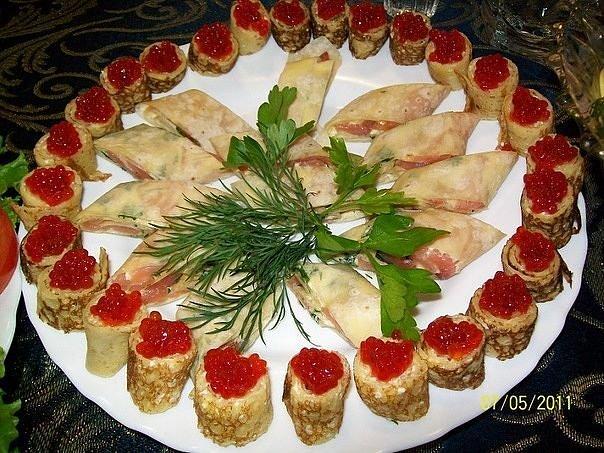 Фото красивых салатов на свадьбу