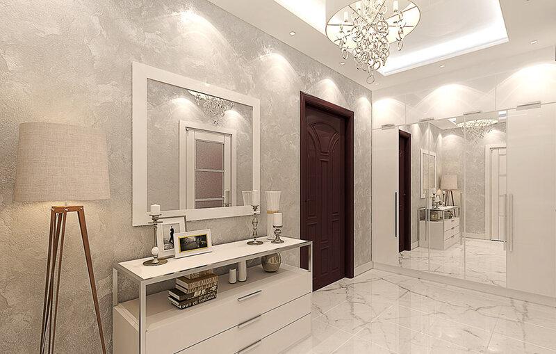 Дизайн прихожей в квартире в светлых тонах