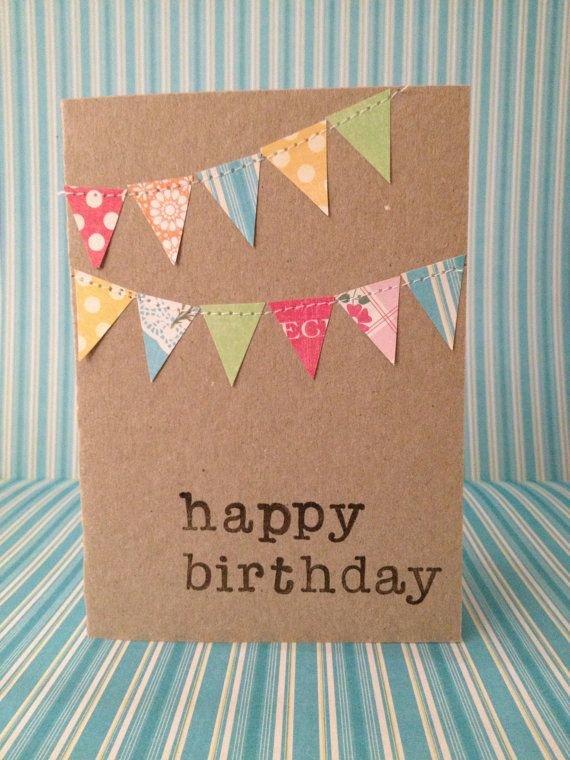 Как сделать простую красивую открытку на день рождения своими руками