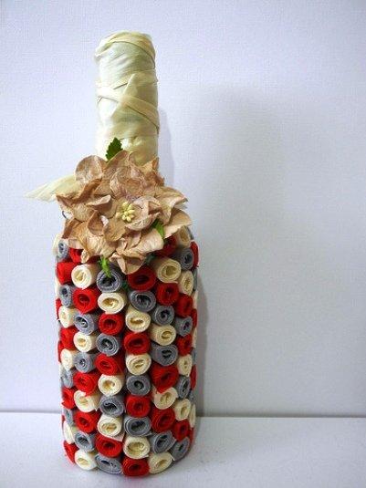 Подарки своими руками украсить бутылку 185