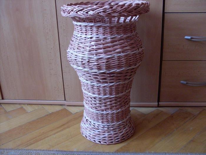 Плетение из газет ваз мастер класс