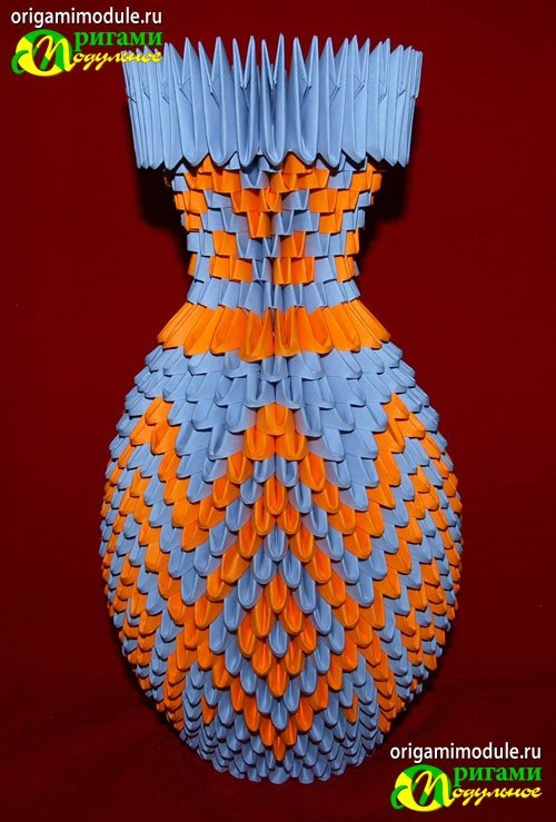 Модульне оригами ваза схема