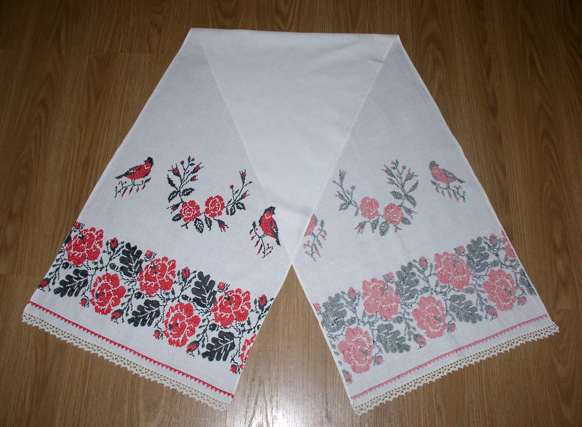 Пасхальные рушники : схемы вышивки. Как вышить рушник на Пасху крестиком