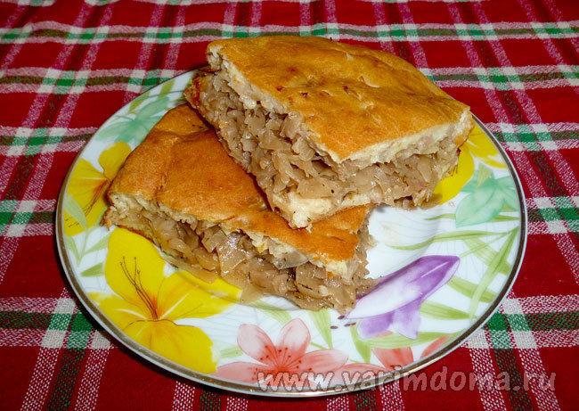 Пироги с капустой на кефире рецепт пошагово в духовке