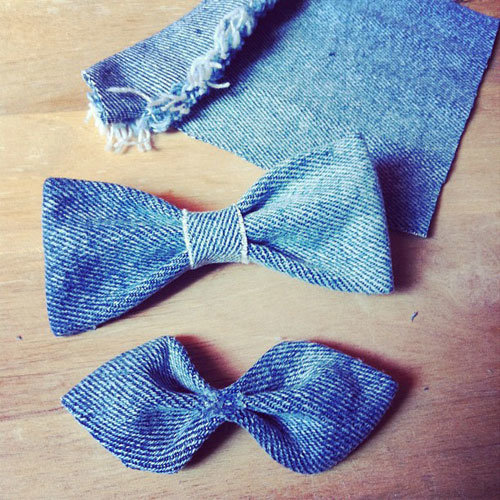 Как сшить бабочку из джинсовой ткани 92