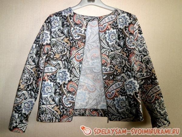 Как сшит летнюю куртку 626