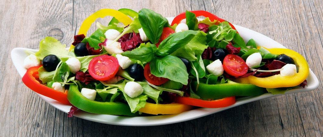 Овощные диетические салаты 7 легких рецептов