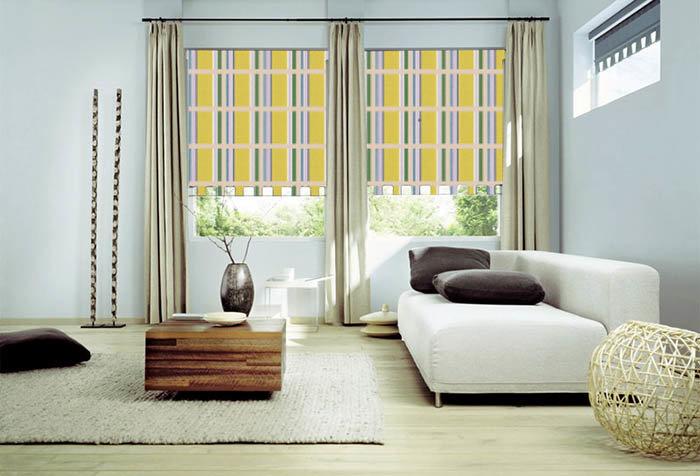 Как подобрать шторы к обоям - t