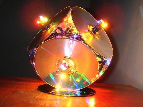 Светильники из дисков