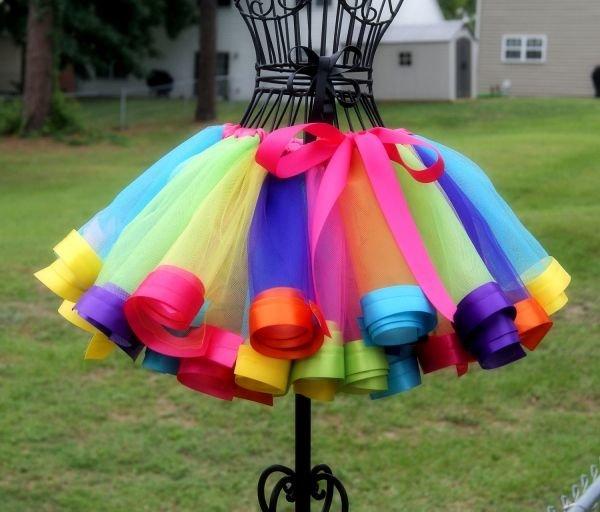 Разноцветная юбка своими руками