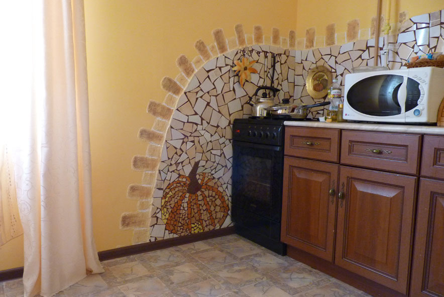 Декор на стены своими руками на кухне 15