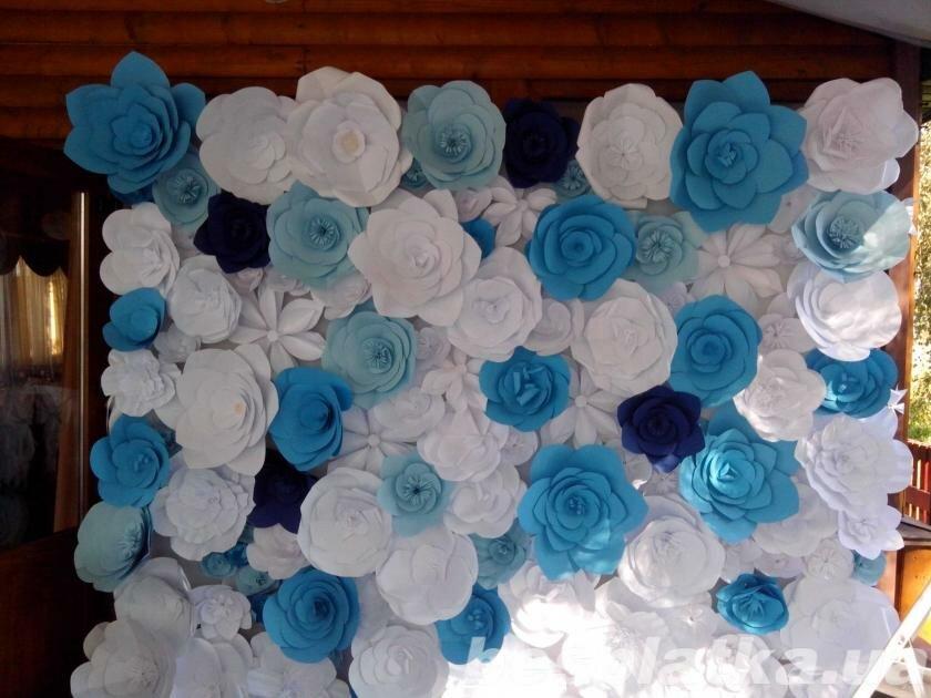 Фото украшения цветами из бумаги своими руками 608