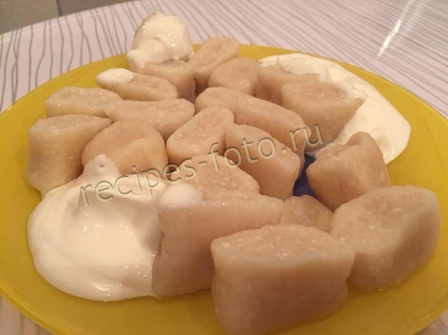 Вареники с творогом пошаговый рецепт с соленый