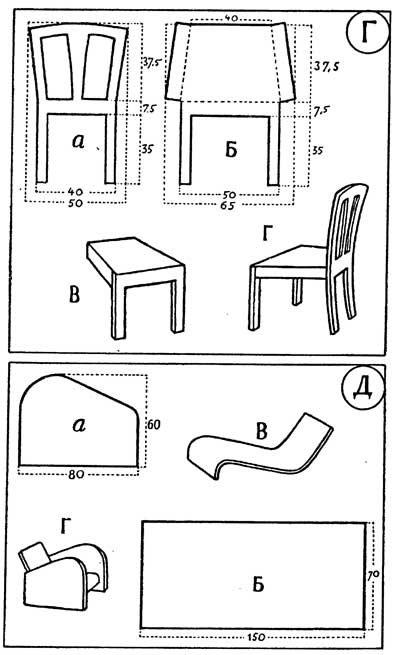 Как сделать макет мебели 130