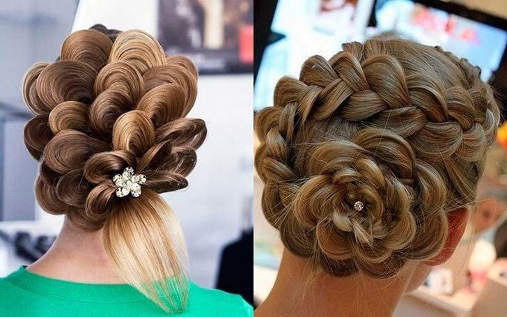 Красивая прически из косичек на средние волосы