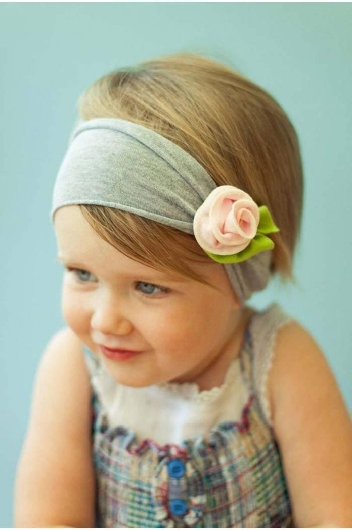 Повязка с цветком для девочки