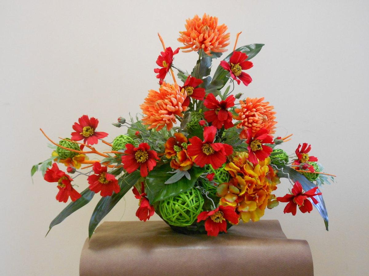 Как сделать поделки из искусственных цветов