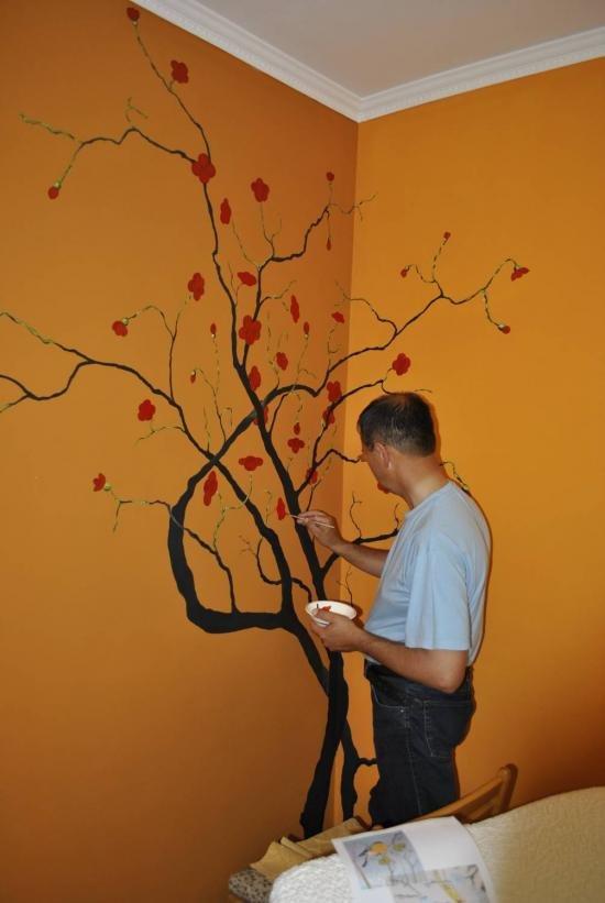 Простые рисунки на стенах своими руками фото 334