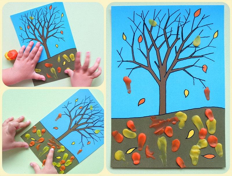 Поделки осень с малышами