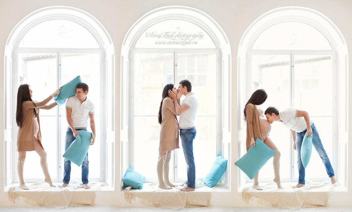 Фотостудия съемка беременных с мужьями