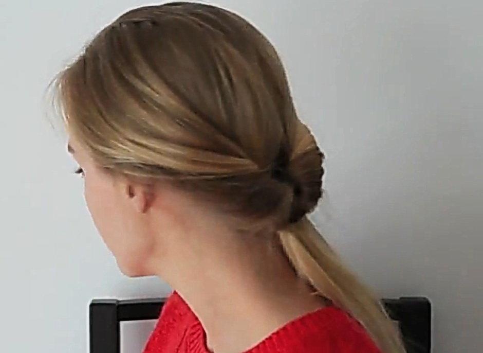 Простая прическа для средних тонких волос