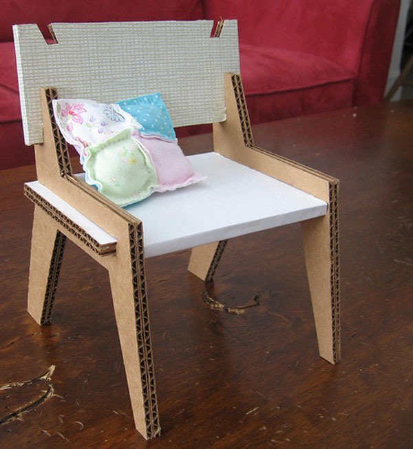 Столик из картона как сделать